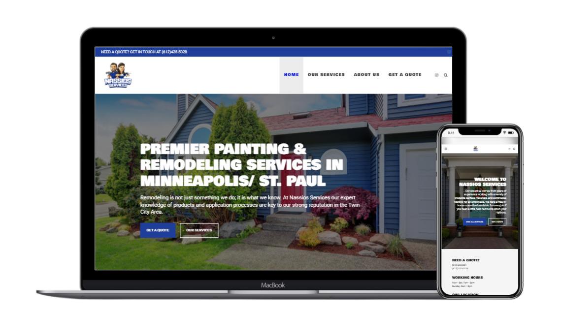 Nassios Services Recent Projects Rettig Digital Web Design