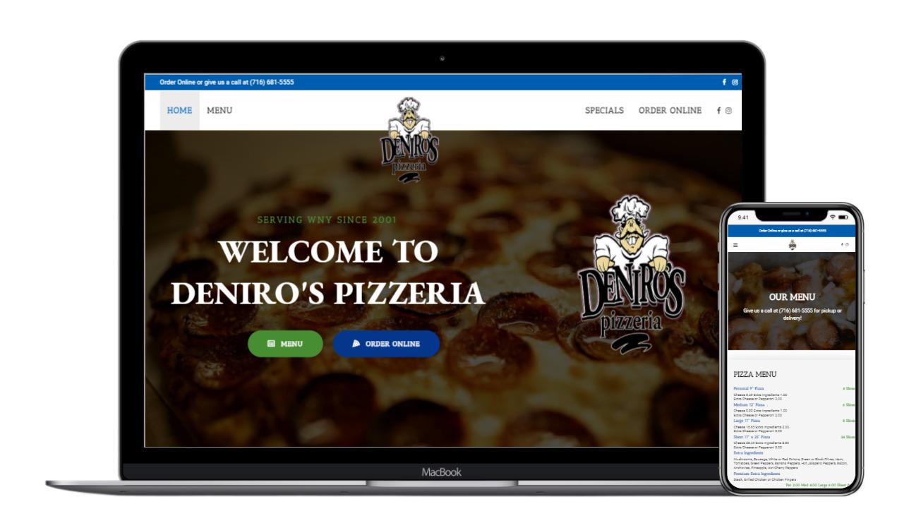 Deniros Pizzeria Rettig Digital Web Design